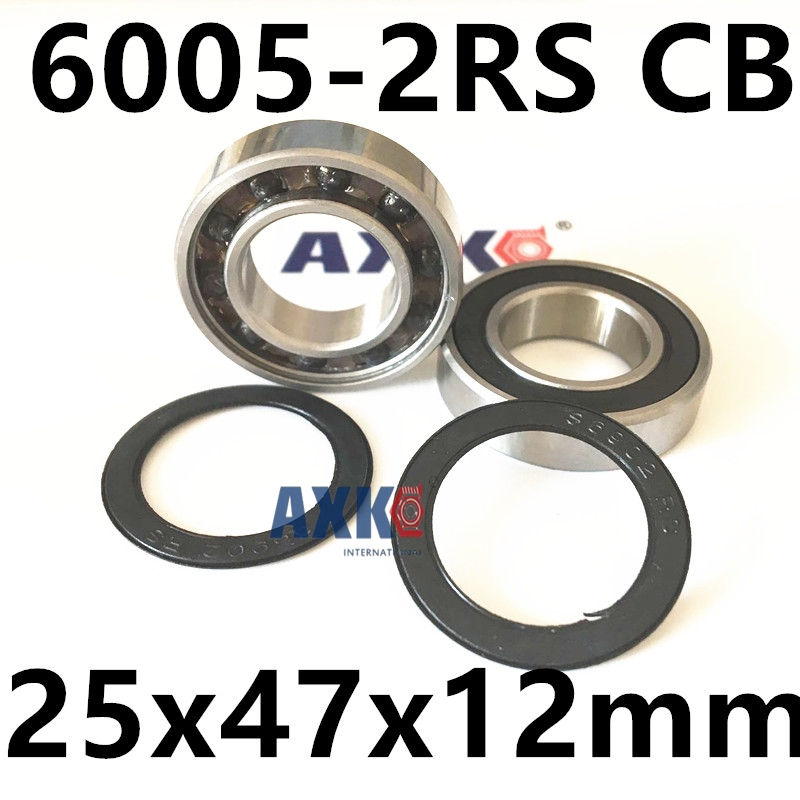 Free shipping 6005-2RS CB 6005 hybrid ceramic deep groove ball bearing 25x47x12mm free shipping 6005 2rs cb 6005 hybrid ceramic deep groove ball bearing 25x47x12mm