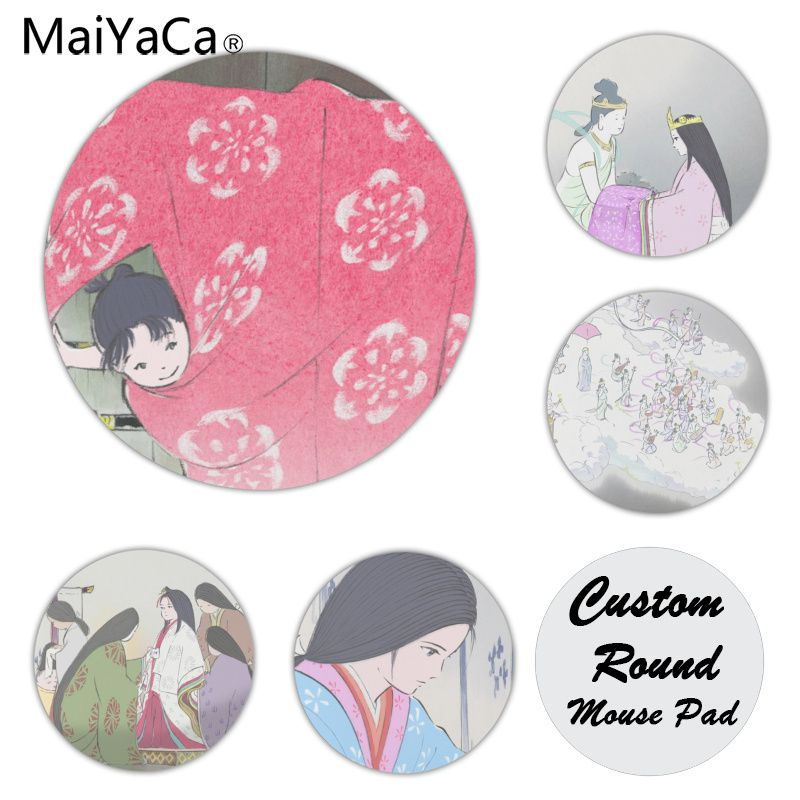 MaiYaCa The Tale of the Princess Kaguya Customized laptop Gaming mouse pad Size for 20x20CM Speed Version Round Mousepads