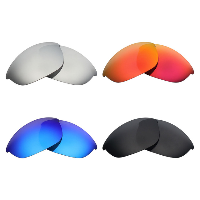 073993cf218 4 Pairs MRY POLARIZED Replacement Lenses for Oakley Half Jacket Sunglasses  Stealth Black   Ice Blue   Fire Red   Silver Titanium