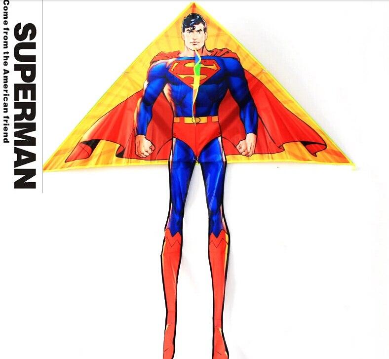 Superman-Drachen des freien Verschiffens hoher Qualität mit der Grifflinie fliegenden Spielzeugnylon Ripstopkinderdrachenfallschirmkrake