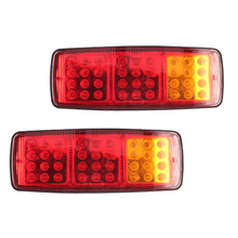 купить 1 Pair 36 LED Car Rear Tail lights 12V 24V Trailer Truck Caravan Stop Brake Lamp Red Yellow Turn Signal Light дешево