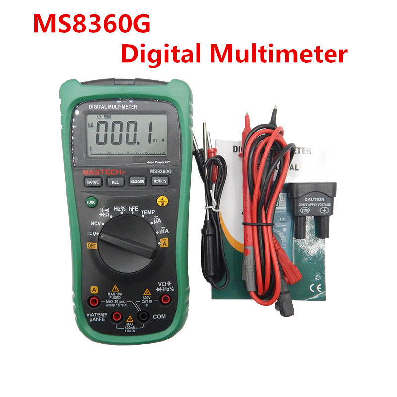 MASTECH MS8360G Auto Range Digital Multimeter ohm voltage current Capacitance Frequency Temperature Meter Newest upgrade mastech my68 handheld lcd auto manual range dmm digital multimeter dc ac voltage current ohm capacitance frequency meter