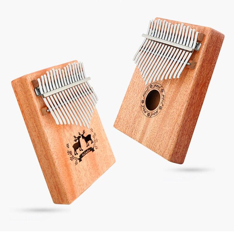 17 клавиш калимба Африканский игрушечное пианино Finger перкуссия Natural Keyboard Музыкальные инструменты маримба твердые деревянные Электрический ...