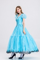Deluxe Adult Cinderella Costume Fairy Tale Ladies Fancy Dress Ball Gown Women Alice in wonderland halloween Cosplay Costume