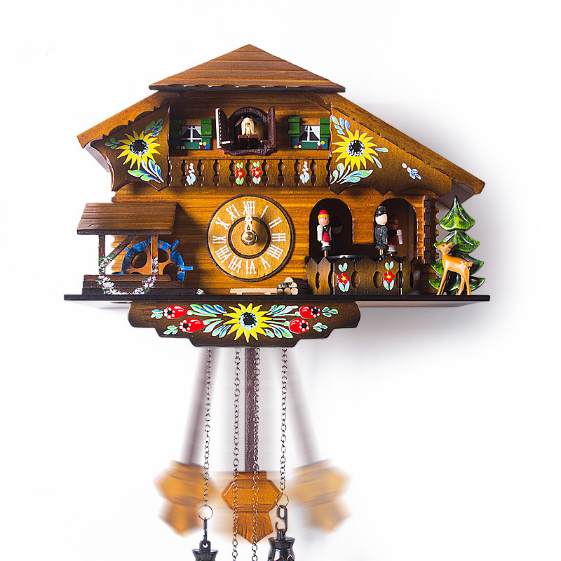 fashion wall rustic cuckoo clock photoswitchable music fashion timekeeping clock and watch for. Black Bedroom Furniture Sets. Home Design Ideas