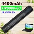 8 células de bateria para notebook hp pavilion dv9000 dv9100 dv9200 dv9300 hstnn-ib34 hstnn-ib40 hstnn-lb33 hstnn-q21c