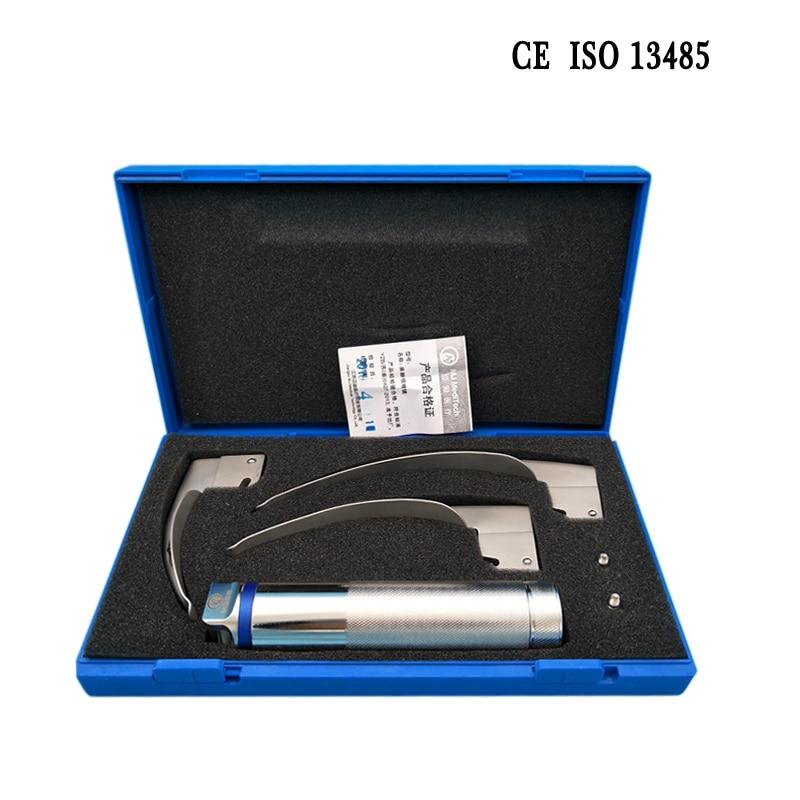 Reusable Full Titanium Steel Medical Adult Anaesthetic Laryngoscope Medical Teaching reusable full titanium steel medical adult anaesthetic laryngoscope medical teaching
