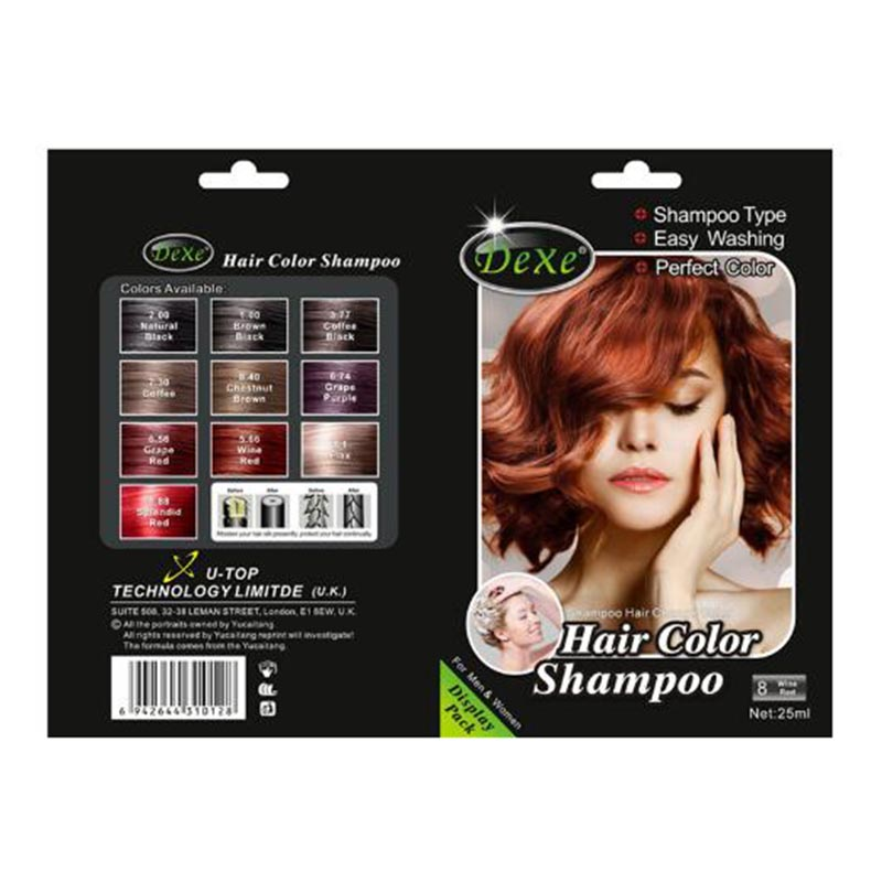 Online Shop 5pcslot Dexe Chestnut Brown Black Hair Color Shampoo