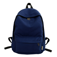 Контракт Джокер большая емкость 100% хлопок рюкзак свежий чистый цвет школьная сумка для девочек-подростков зеленый холст сумка