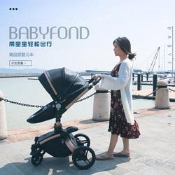 Wózek dziecięcy Babyfond może być siedzący lub cofnięty w zimie nowy wózek dziecięcy wysoki krajobraz 0-6 miesięcy 9-18 miesięcy