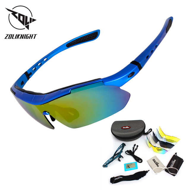 Spolaryzowane okulary rowerowe sportowe rowerowe okulary przeciwsłoneczne dla mężczyzn kobiety gogle okulary 5 soczewki okulary rowerowe MTB