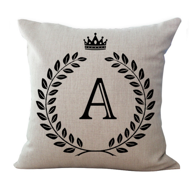 New Decorative Pillows Cushion Use Home Sofa Car Office Cushion Cover Letter Alphabet Printed Pillowcase Almofadas Cojines