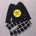 Sol Lua Crianças 2016 Baby boy Roupas de Bebê Macacão de Bebê Recém-nascido T-shirt de Manga comprida + Calças Menina Do Natal Do Bebê Romper Infantil roupas