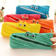 Creative monster Pencil Case kawai pen bag school office supplies high quality cute funny birthday gift send children 001