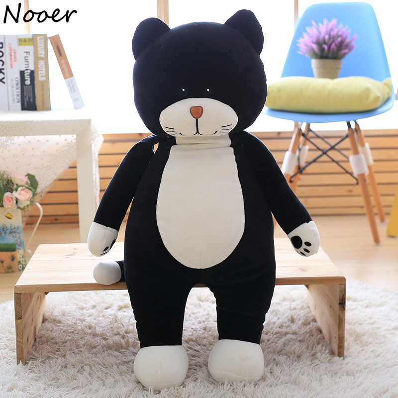 Nooer Lovely Standing Black Cat Plush Toy Soft Pillow For Children Kids Stuffed Plush Cat Animal Doll Bed Decoration Kids Gift