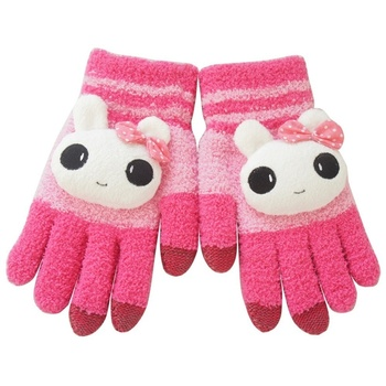 Children Winter Cute Animal Touch Gloves mulitcolor