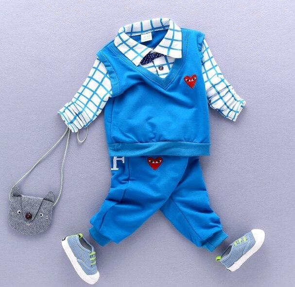 0-3Y new 2017 spring boys fashion cartoon clothing sets 2pcs baby boy t shirt+pant clothes sets kids fashion suit set boy