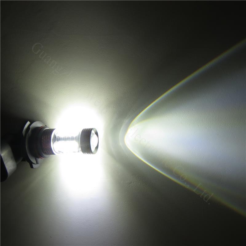 C-FUNN 2Pcs H3 60W High Power 10 Led SMD 2835 Luz De Conducci/ón De Niebla Blanca Drl Drl L/ámpara De Bombilla
