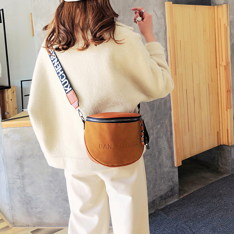 Jiessie&Angela Vintage Trend Women's Chest Bags Waist Pack Leather Crossbody Bag Travel Shoulder Bags Female Messenger Bag Purse