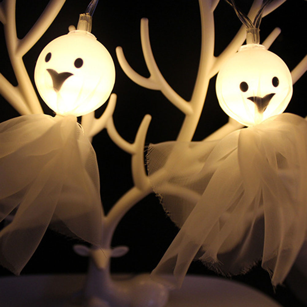1 pc halloween lights ghost shape backyard string lights decoration lamp for outdoor gar ...