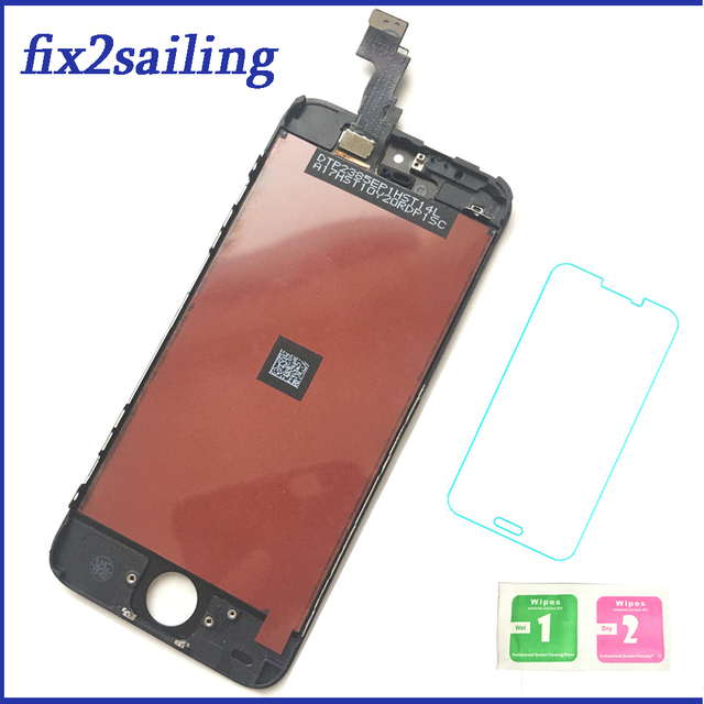 100% Grade AAA LCD Display Touch Screen Digitizer Assembly Replacement For Apple iPhone 5C With Tempered Glass