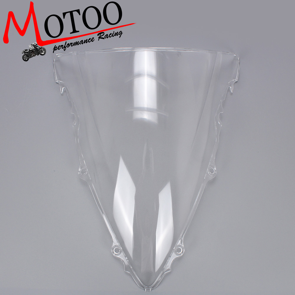 Motoo - Motorcycle Wind Deflectors Wind shield Windshield WindScreen Double Bubble for YAMAHA YZF-R6 R6 2003-2005 wind deflectors windshield windscreen for 2005 2014 suzuki boulevard s40 s50 s83 s 40 50 83 transparent 06 07 08 09 10 11 12 13