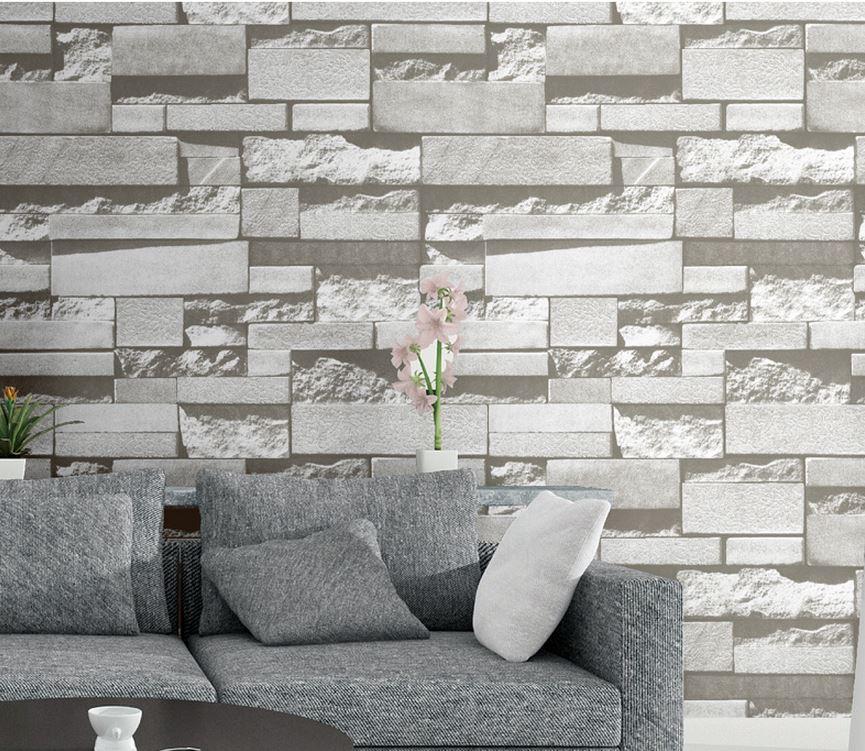 61cm 5m retro pattern brick dormitory bedroom wallpaper tv for Room wallpaper for sale