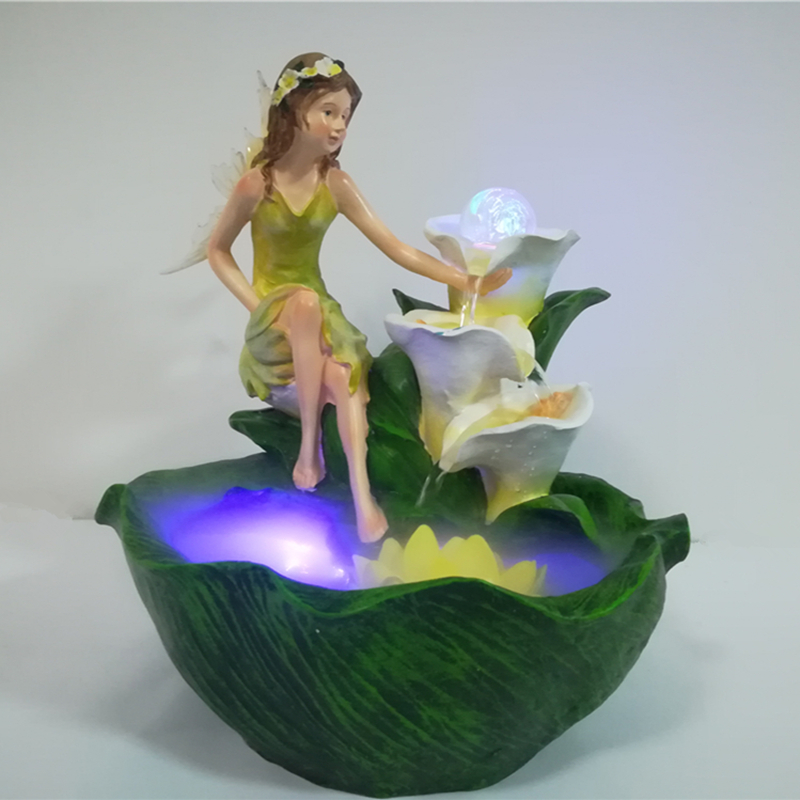 realista belleza adorno de mesa fuente de agua feng shui de aire interior artificial