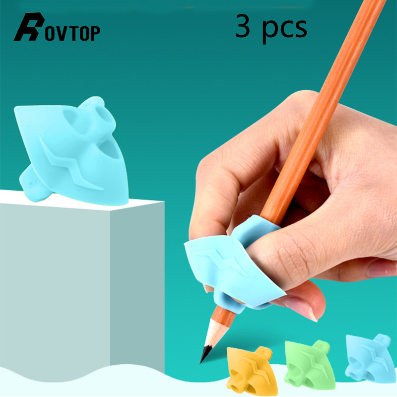 3PCS Children Pencil Holder Pen Writing Aid Grip Posture Correction Device Tool