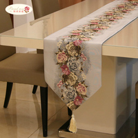 Proud Rose Rural Printing Table Runners Modern Tablecloths American Tea Table Cloth Bed Napkin Fashion Wedding