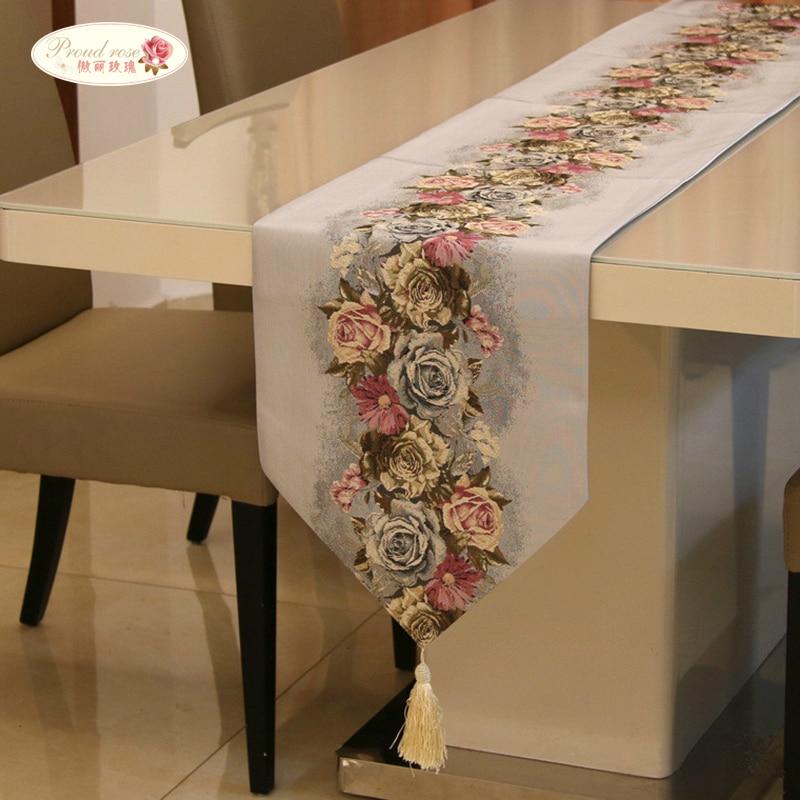 Proud Rose American Table Runner Flag Modern Tablecloths Tea Cloth Bed Napkin Fashion Wedding Decoration