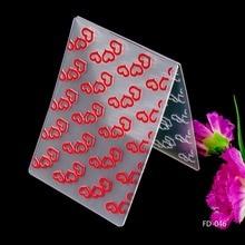 2016 New Arrival Scrapbook Heart Design DIY Paper Cutting Dies Scrapbooking Plastic Embossing Folder