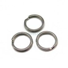 200 pcs/lot Lure Ring Stainless Steel Split Rings for Blank Lures Crankbait Hard Bait Fishing Ring Bass Walleye Fishing