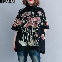 DIMANAF Frauen Hoodies Sweatshirts Plus Größe Tops Schwarz Weibliche Rollkragen Pullover Herbst Thinken Baumwolle Lose 2019 Drucken Floral