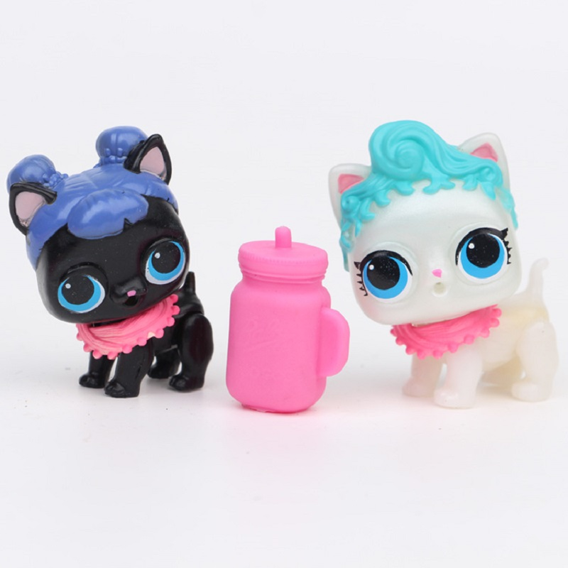 Random Ship 1Pc Cartoon Pet Dog LoL Dolls PVC Girl Polly Pocket Lovely Big Eyes funny Action Figure Toys baby Kids Xmas Gifts pet great dane pet toys rare old styles dog lovely animal pets toys lot free shipping