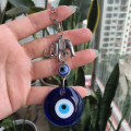 Turkish Evil Eye Glass Charm With Elephant Home Decoration Amulet Car Hanging Nazar Arabic Islamic Protector Lucky Eye