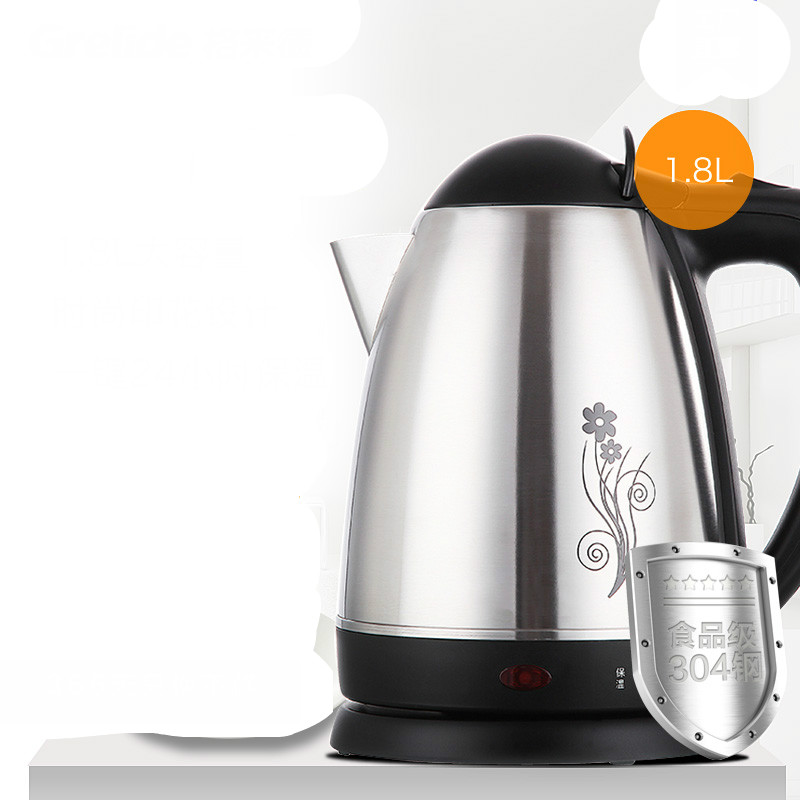 Electric heating kettle insulation 304 food stainless steel automatic power off free shipping automatic electric food grade 304 stainless steel electric kettle hot insulation automatic prevent parch