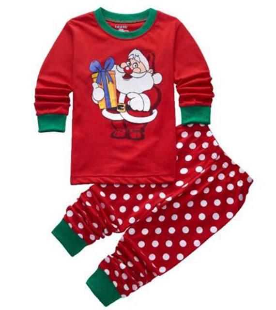 new design choose baby girls christmas pajamas sets baby sleepwear children pyjamas kids pijamas homewear a041