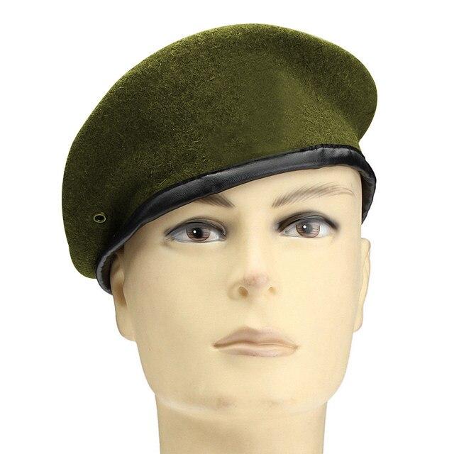 Tienda Online 2017 Rusia moda Boinas unisex Militar soldado sombrero ...