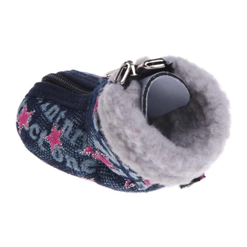 Let's Pet zapatos perros botas para perrito Denim cálido nieve invierno encantador antideslizante cremallera Casual