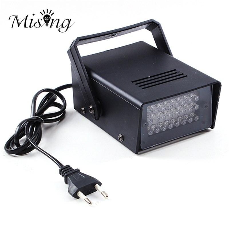 3W 24 LED Stage Lights Operated DJ Strobe Lights Disco Party Club KTV Stroboscope White Stage Lighting Effects EU Plug AC220V