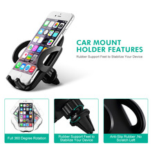Mpow Air Vent Car Mount Holder Adjustable Dashboard Cellphone Car Mount Holder Stand for iPhone X 8 7 6 6S/Plus Samsung s8 HTC