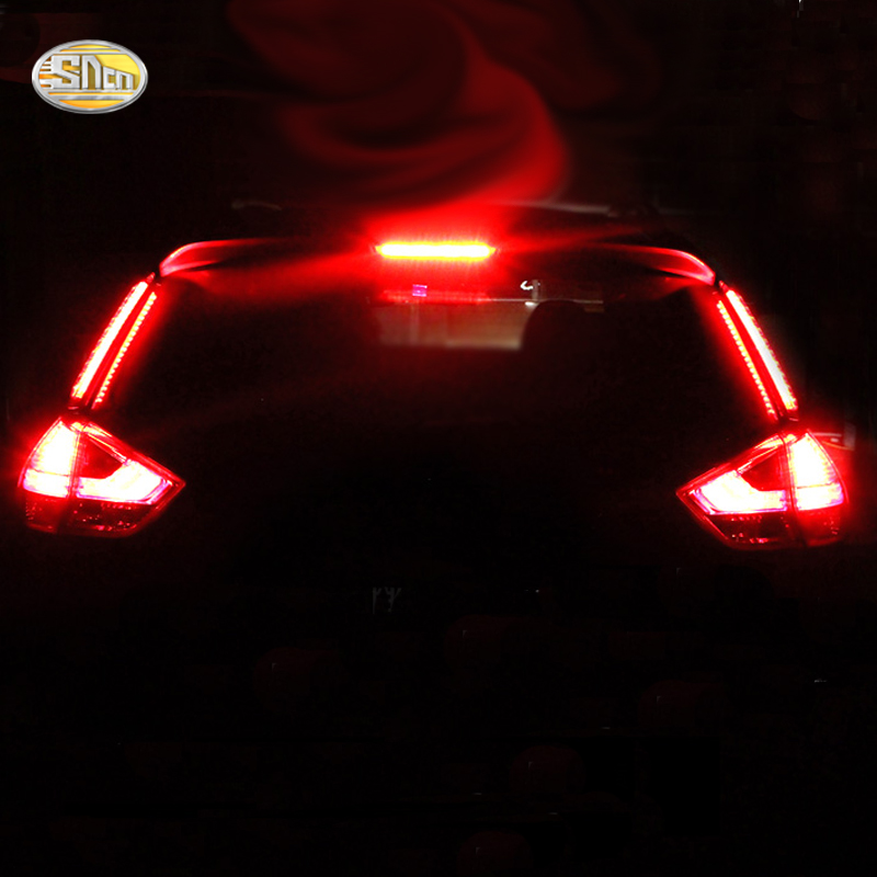 SNCN LED Tail Lights For Nissan X-trail 2014-2016 Rear Brake Lights Driving Lamp Chrome Accessories
