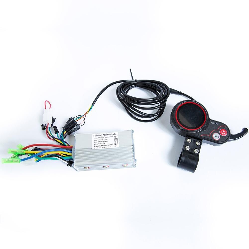 Affichage coloré de LED de Scooter avec l'accélérateur de pouce et contrôleur accessoires électriques de vélo mètre LED d'assistant de vitesse d'ordinateur