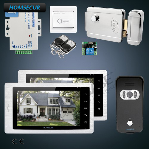 HOMSECUR 7 Video Door Phone Intercom System with User Friendly Design of OSD Menu+Touch Button Monitor for House/Flat