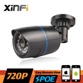 XINFI HD 1.0 MP CCTV POE camera night vision indoor / outdoor Waterproof network CCTV 1280*720P IP camera P2P ONVIF remote view