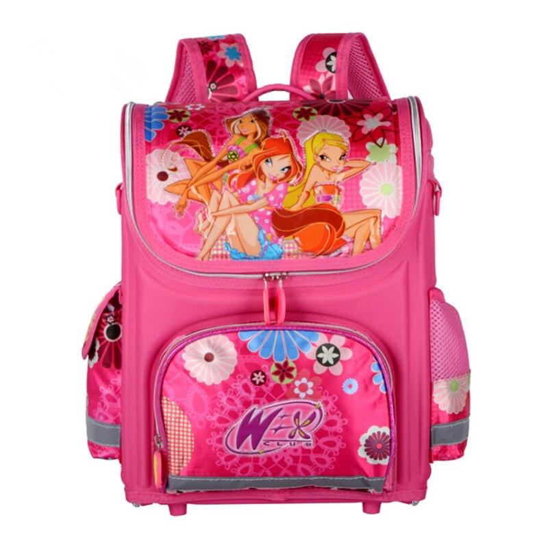Girls Butterfly School Bags Nylon Orthopedic Princess Elsa Backpacks for Primary Students Children Kids Bookbag Schoolbags