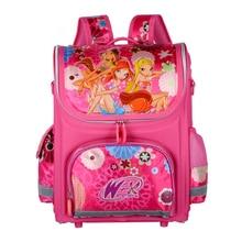 Обувь для девочек Бабочка Школьные сумки нейлон ортопедический Принцесса Эльза Рюкзаки для учащихся начальных классов Для детей ранцы Рюкзак