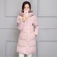 Vogue New 2016Women Winter Jacket Cotton Coat Han Edition Cultivate One s Morality Even Cap Big