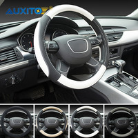 AUXITO 38 CM Auto Lenkradabdeckung Für Audi A3 A4 B6 B8 A6 C6 80 B5 B7 A5 Q5 Q7 TT 8 P 100 8L C7 8 V A1 S3 Q3 A8 B9 S linie A7 S4